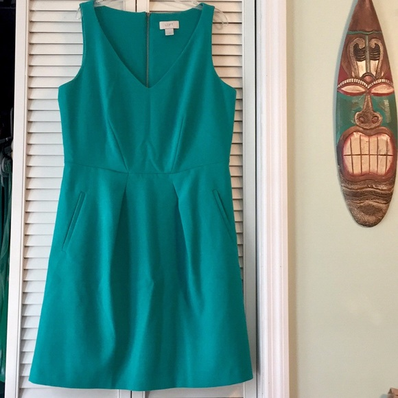 LOFT Dresses & Skirts - Teal loft dress size 10